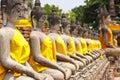 Row of Buddha momument Stock Images
