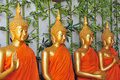 Row Of Buddha Statues Royalty Free Stock Photography