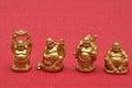 Row of Buddhas Figurines Royalty Free Stock Photo
