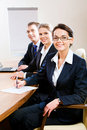 Row of business people Royalty Free Stock Photo