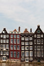 Row of canal houses in Amsterdam Royalty Free Stock Photo