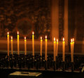 Row of candles Royalty Free Stock Photo
