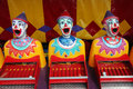 Row of carnival clowns Stock Photography