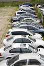 Row of cars on parking lot Royalty Free Stock Photo