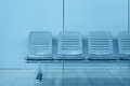 Row of chair in modern office building Royalty Free Stock Photography