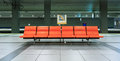 Row of chair in the underground railways station japan Royalty Free Stock Photography