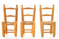 Row chairs Stock Photography