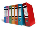 Row of color office folders Royalty Free Stock Photo