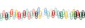 A row of colorful clips on white Royalty Free Stock Image