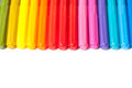 Row colorful felt tip pens isolated white Stock Image