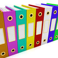 Row Of Colorful Files For Getting Organized Royalty Free Stock Photos