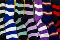 Row of Colourful Rugby Sport Socks Royalty Free Stock Photo