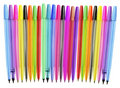 Row of Colouring Pens Royalty Free Stock Images