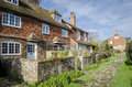 Row of cottages in a Village in Kent Royalty Free Stock Photo