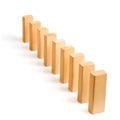 Row of dominoes Royalty Free Stock Photo