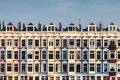 Row of Dutch old white houses Royalty Free Stock Photo