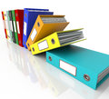 Row Of Falling Files For Getting Organized Royalty Free Stock Photo