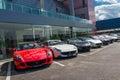 Row of ferrari cars