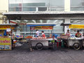 Row of food stall in asia Royalty Free Stock Photo