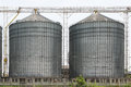 Row of granaries for storing wheat and other cereal grains agricultural silo and kept production from agriculture Stock Images