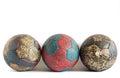 Row of Handball Balls Royalty Free Stock Photo