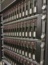 Row of hard drives Royalty Free Stock Photo