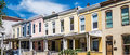 Row Homes Panorama Royalty Free Stock Photo