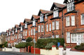 Row of houses on a street old terraced scarborough england Royalty Free Stock Photos