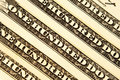 Row of hundreds dollars Stock Photography