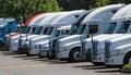Row of new US trucks Royalty Free Stock Photo