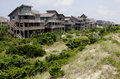 Row Outer Banks Beach Houses Stock Image