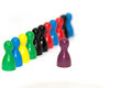 Row of pawns Royalty Free Stock Photo