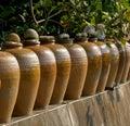 Row of Pickling Jars Royalty Free Stock Photo
