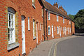 Row of red brick kent cottages Royalty Free Stock Photo