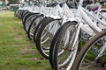 A row of rental bikes Royalty Free Stock Image