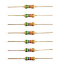 Row of resistors isolated Stock Photos