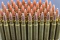 Row of rifle ammo Royalty Free Stock Photo