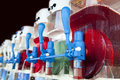 Row of slush machines Royalty Free Stock Photo
