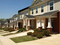 Row of Small Townhouses Royalty Free Stock Photography