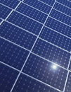 Row of solar panels Stock Photos