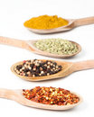 Row Of Spices Stock Images