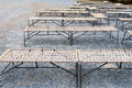 Row of steel rope chair Stock Images