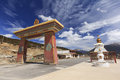 Row of stupas at the gate of Deqing city, Yunnan, China