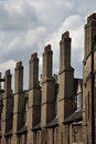 Row of tall chimneys Royalty Free Stock Photo