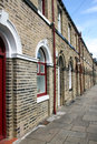 Row of terraced houses architecture at saltaire near bradford west yorkshire Royalty Free Stock Photography