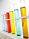 Row of test tubes Royalty Free Stock Photography