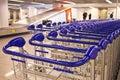 Row of trolleys Royalty Free Stock Photo
