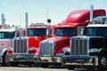 Row of trucks Royalty Free Stock Photo