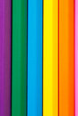 Row of the vertical Color pencils close up Royalty Free Stock Photo