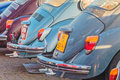 Row of vintage volkswagen beetles from the seventies rosmalen netherlands january in rosmalen netherlands Stock Image